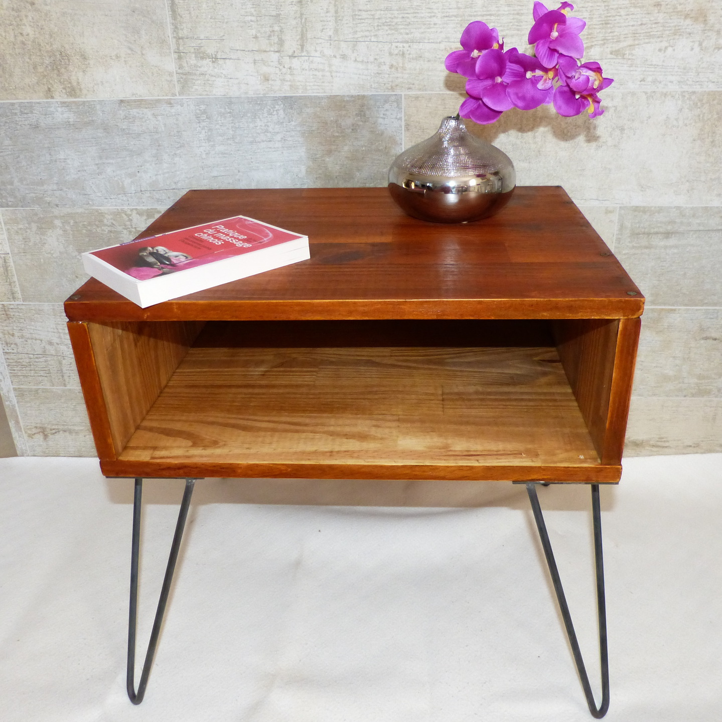 Table de chevet vintage h l ne d co - Table chevet vintage ...