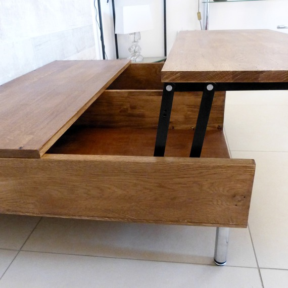 Table basse plateau relevable h l ne d co - Table basse a plateau relevable ...